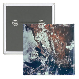 Wettergeschehen über Erde Quadratischer Button 5,1 Cm