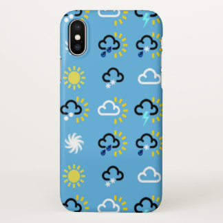 Wettersymbole iPhone X Hülle