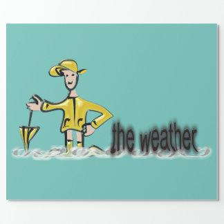 Wettervorhersage in der Regenkleidung Geschenkpapier