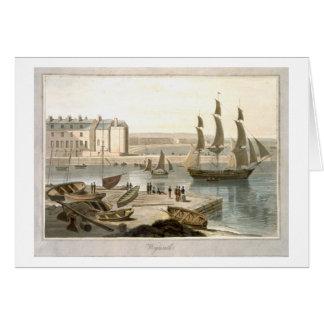 Weymouth Hafen, von 'einer Reise um großen Briten Karte