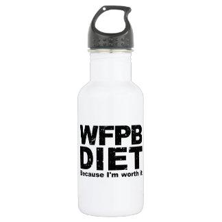 WFPB I sind es wert (Schwarzes) Edelstahlflasche