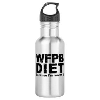 WFPB I sind es wert (Schwarzes) Trinkflasche