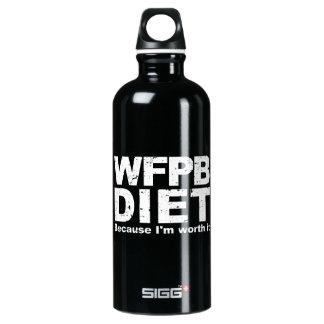 WFPB I sind es wert (weiß) Aluminiumwasserflasche