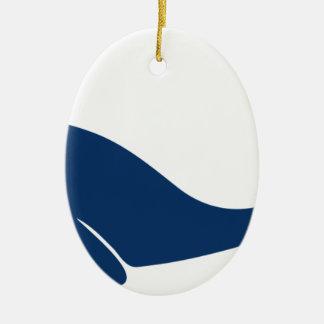 whale wal dolphin shark happy flower ovales keramik ornament