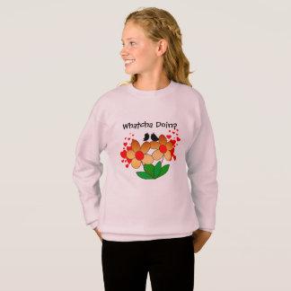 Whatcha Doin? Bequemes Sweatshirt für Jugend