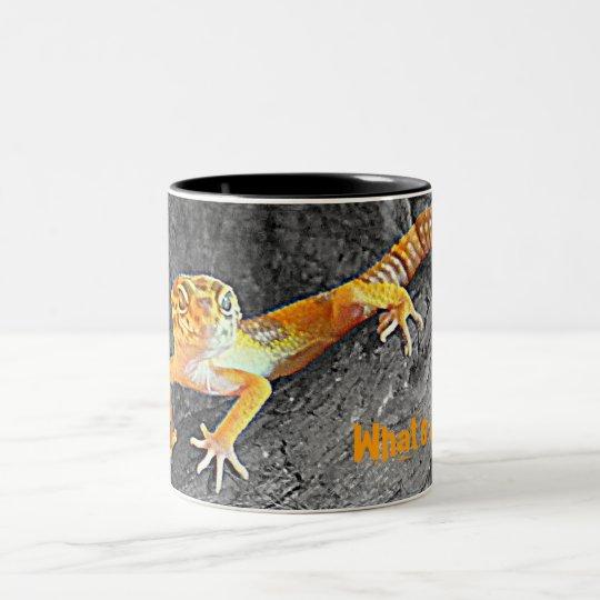 What's up ? Leopard-gecko, gecko, cup Zweifarbige Tasse