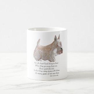 Wheaten Scottish-Terrier-Regenbogen-Brücke Kaffeetasse