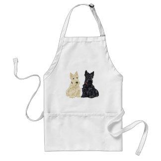 Wheaten und schwarze schottische Terrier Schürze