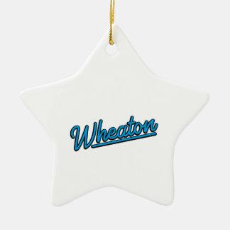 Wheaton Neonlicht in Cyan-blauem Keramik Ornament