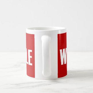 Whee die Leute Kaffeetasse
