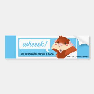 """Wheek!"" Meerschweinchen-Autoaufkleber Autoaufkleber"