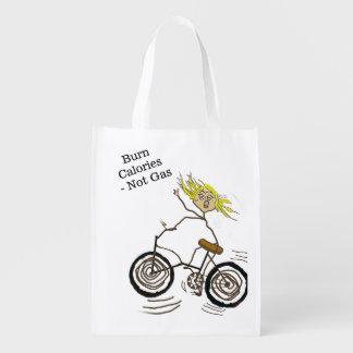 Wheeley der glückliche Bicycler brennt Wiederverwendbare Tragetasche