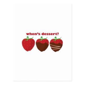 Whens Nachtisch? Postkarte