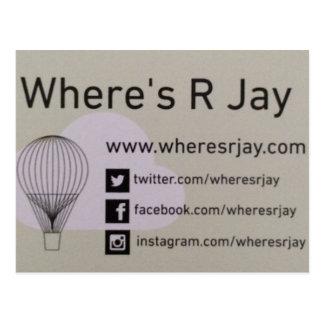 Wheres R Jay-Logo Postkarte