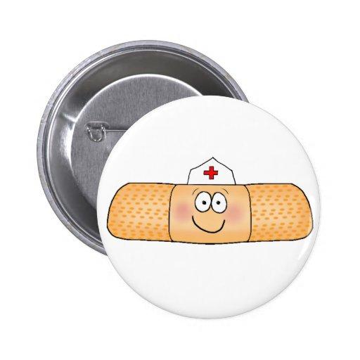 Whimsicla Pflaster-Verband mit dem Krankenschweste Button