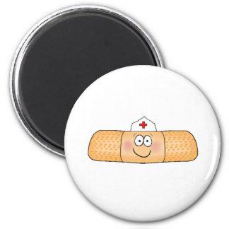 Whimsicla Pflaster-Verband mit dem Krankenschweste Runder Magnet 5,7 Cm