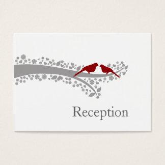 whimsy Baum rote Lovebirds Empfangs-Karten Visitenkarte