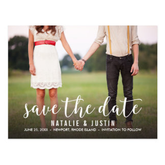 Whimsy Foto-Save the Date Mitteilung Postkarte