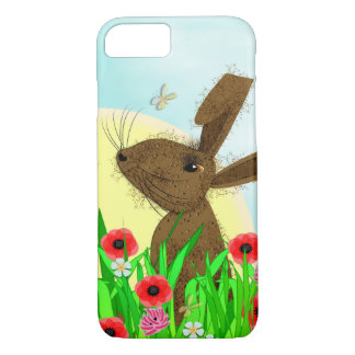 Whimsy März-Hase-Frühlings-Blumen iPhone 8/7 Hülle