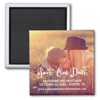Whimsy | Save the Date Magnet Quadratischer Magnet