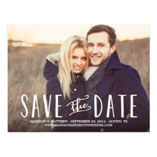 Whimsy Save the Date Postkarte