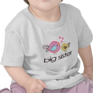 Whimsy Vogel-große Schwester-T - Shirt-Mitteilung