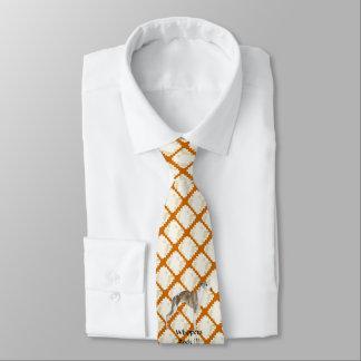Whippet auf TAN-Blätter Krawatte