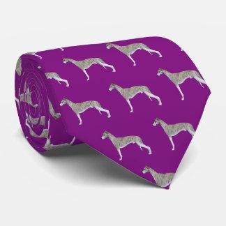 Whippet Hals-Krawatte - lila Krawatte