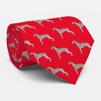 Whippet Hals-Krawatte - Rot Krawatte