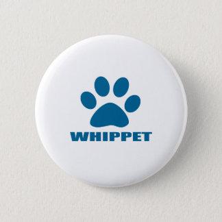 WHIPPET HUNDEentwürfe Runder Button 5,1 Cm