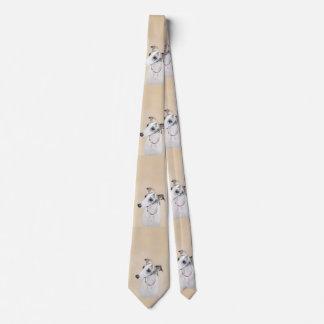 Whippet Malerei - niedliche ursprüngliche Krawatte