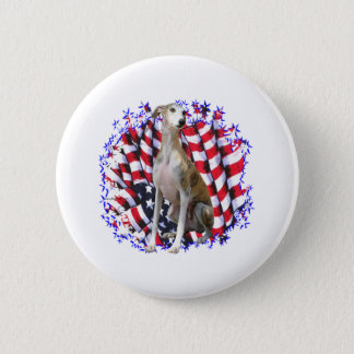 Whippet Patriot Runder Button 5,1 Cm