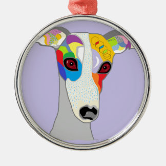 WHIPPET SILBERNES ORNAMENT