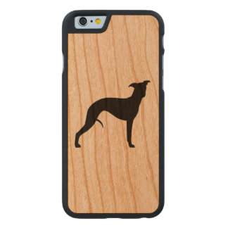 Whippet Silhouette Carved® iPhone 6 Hülle Kirsche