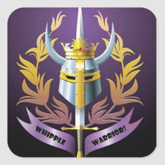Whipple Krieger-Quadrat-Aufkleber des Typs Quadratischer Aufkleber