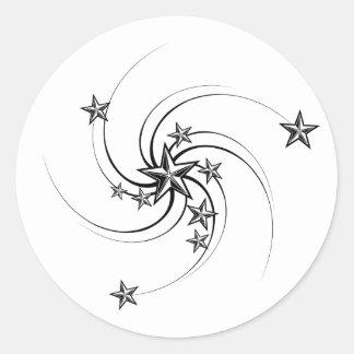 Whirled Seestern-Aufkleber Runder Aufkleber
