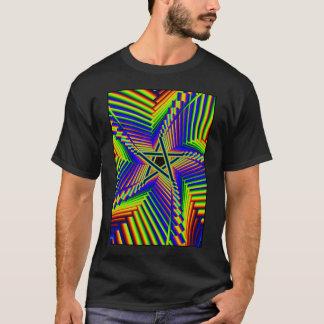 whirling Regenbogen-Pentagramm 3 T-Shirt