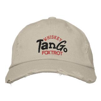 Whisky-Tango Foxtrot Stickerei-Hut Bestickte Baseballkappe