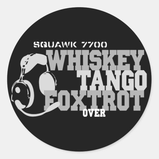 WhiskyTango Foxtrot - Luftfahrt-Spaß Sticker