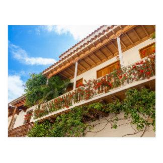 Whit Kolonialer Balcony Postkarte