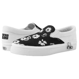 White Daisies Slip-On Sneaker