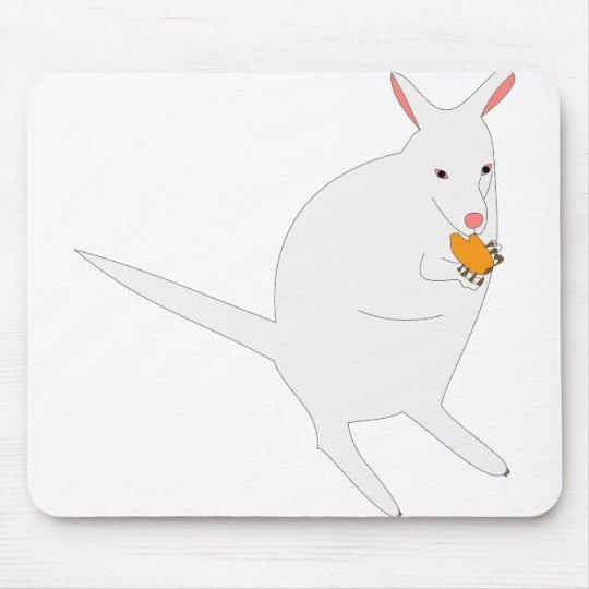White kangaroo mauspads