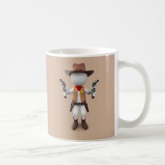 White Loui Cowboy Tasse