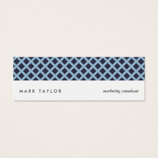 White navy blue Schar Cross modern card Mini Visitenkarte
