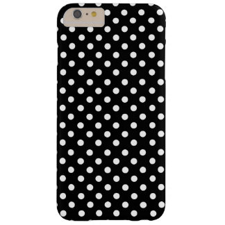White polka dots in black barely there iPhone 6 plus hülle