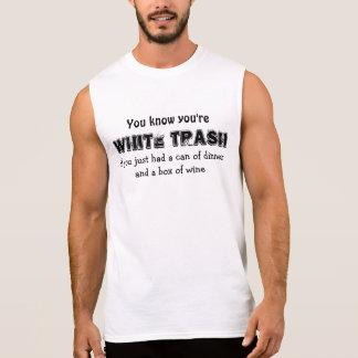 WHITE TRASH ÄRMELLOSES SHIRT