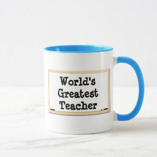 Whiteboard der Lehrer der Welt bestste Tasse