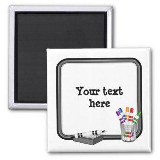 Whiteboard, fertigen Ihren Text besonders an Quadratischer Magnet