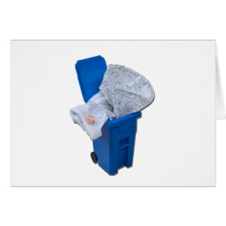 WhiteDressRecycleBin122111 Grußkarte