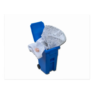 WhiteDressRecycleBin122111 Postkarte